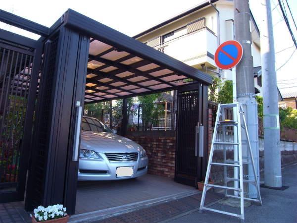 カーポート屋根の修理(横浜,戸塚,一戸建て)