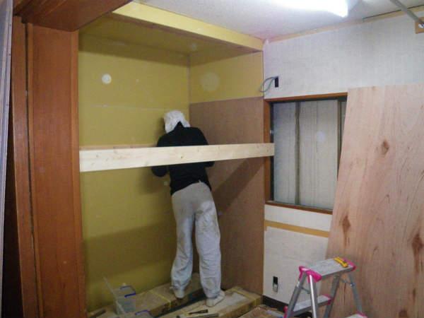 お部屋の拡張工事(横浜,旭区,一戸建て住宅)続き