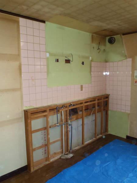 浴室,キッチン,洗面室のリフォーム(大田区,一戸建て)前回の続き