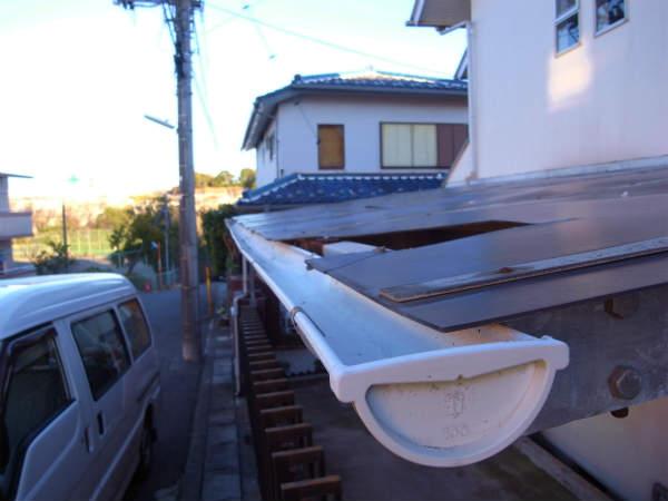 カーポートの屋根のリフォーム(横浜,青葉区,戸建て)