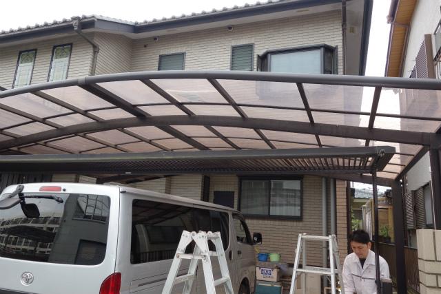カーポートの屋根の交換②完了 横浜 戸塚区 一戸建て