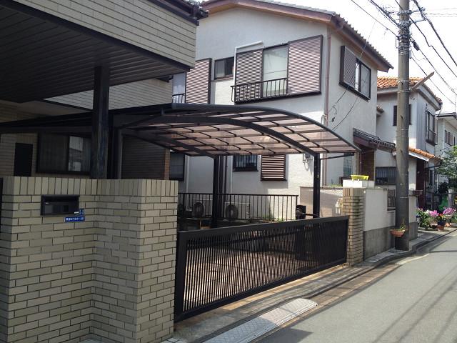 カーポートの屋根の交換① 横浜 戸塚区 一戸建て
