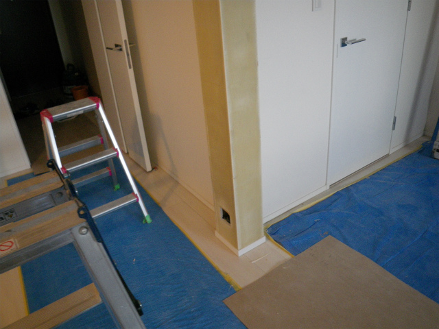 間仕切壁撤去工事(リビング拡張)②完 品川区 高層タワーマンション